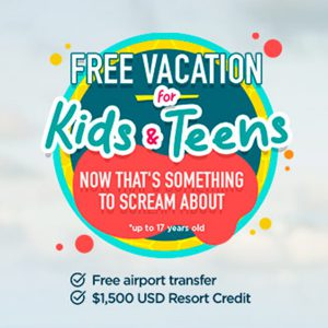 Palace Resorts Free Vacation for Kids and Teens promo offer
